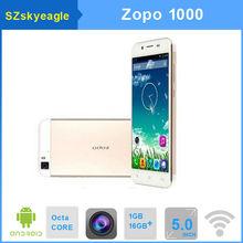 "Original ZOPO ZP1000 ZOPO 1000 Mtk6592 Octa Core Ultra 7.2mm 5"" IPS HD screen 14MP Camera 1GB+16GB Android OTG cell phone"