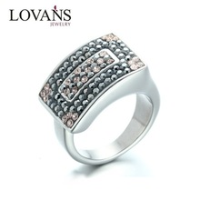 Fantastic Design Your Own Stainless Steel Unisex Clay Crystal Finger Band
