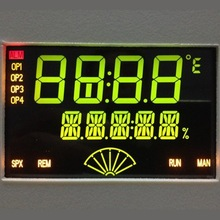 VA Negative TN BTN type lcd segment display with black background