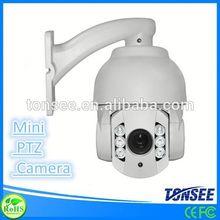 MINI IP HD IR High Speed Dome Camera 50-60M outdoor ptz ip camera poe