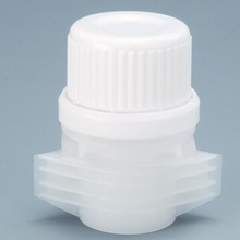 plastic valve and easy open cap for pouch