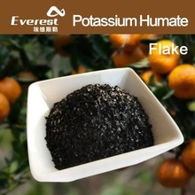 Potassium Humate 99% Shiny Flake with Great Water Solubility