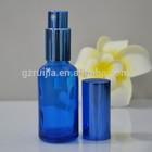 2015 hot sale 30ml 50ml 100ml blue glass spray bottle