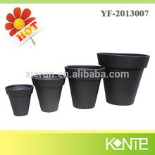Black Ceramic Flower Pot,Mini Artificial Flower Pot,Cheap Flower Pots