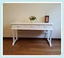 white solid wood office table