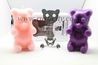 Animal shape printing wax candle for party