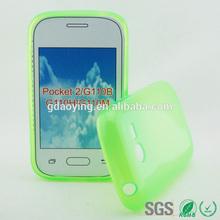 half transparent mobile phone case for Samsung Galaxy Pockte2 G110B