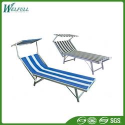Cheap Beach Sun Bed Wholesale Folding Aluminium Beach Bed