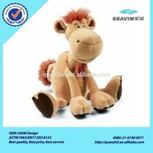 Custom stuffed plush camel toys sitting camel