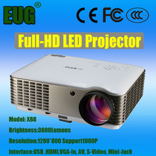 Professional 3600 lumens WXGA 1280X800P Projector Outdoor Building Projector