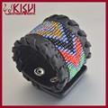 los proveedores de china de la moda pulsera de cuero tejido kisvi joyería al por mayor
