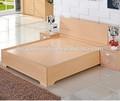 moderno caliente de la venta de madera contrachapada con cama doble de madera contrachapada de almacenamiento
