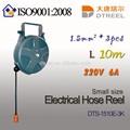1.5平方ミリメートル3個l10m220v6adts-1510e-3kスイッチタイプ小型電気ホースリールケーブルリール