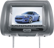 7 inch new digital panel car headrest dvd player with 24V DC power input