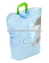 Cheap OEM Custom Printed Soft Loop Handle Plastic Merchandise Shopping Bag