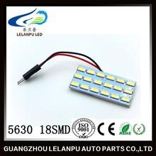 White 18 LED Panel 5630 SMD Car Dome Light Lamp