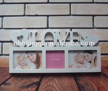 3 Photos Black/White Plastic Love Photo Frames Love Picture Frames