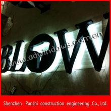 Custom-made Metal Stainless Steel Backlit 3D LED Sign Letters Lighting for Ads