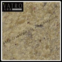 Vatro New Color Yellow Granite Engineered Quartz Stone Countertop Manufacturer