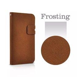 New arrival leather case for iphone6 dull polish leather case