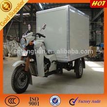 2015 hot sale gasoline powered food three wheel trike with closed cargo box