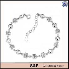 925 pulseira de prata, 925 pulseira de prata esterlina