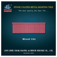 coffee brown wood/ classic/ bond stone coated steel roofing tile
