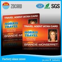 Customized standard size blood type identification card