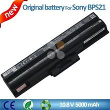 New laptop battery VGP-BPS21 VGP-BPS21A VGP-BPS21B for SONY Vaio VGN-FW VGN-SR26 VPC CW2MFX/PU VPCCW16EC/B Black Color