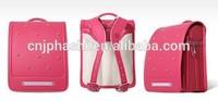 BL.RS.0031 - red pu school bags/rivet back school bag /fashionable pu school bag
