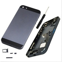 Black Complete Metal Housing Back Cover Mid Frame Assembly For Apple iPhone 5 Mobile Phone Accessories