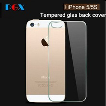 Phone parts Scratch Resistant Tempered Glass Screen Protector For Iphone 5 Back Cover