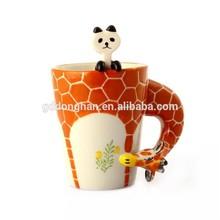 alibaba china supplier manufacturing high quality new products ceramic 3d giraffe mug