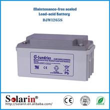 Own factory lead calcium alloy grid solar battery 12v 120ah