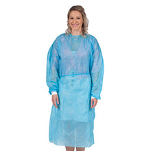 disposable blue color surgical gown for medical use