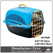 Wholesale Non-toxic PP bright color plastic dog airline cage