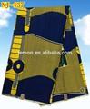 Lago blu colore tessuto batik africano 100% tessuto di cotone cera nj-437