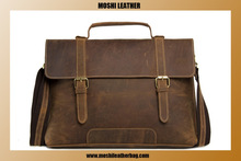 2015 New Fashion Men Leather Handbag