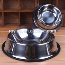 Dog Cat Pet Feeders Feeding Bowls Stainless Steel Water Food Treat Single Bowl
