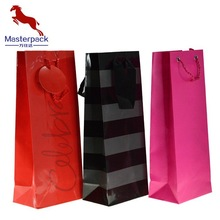 Cheap WIne Paper Bag with Customized Size and Logo