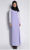 2015 Plus Size lace sleeve jubah Baju Kurung Muslim Dress Baju Dress