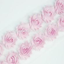 Shabby chiffon flowers rosette trim wholesale