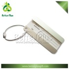 cheap custom aluminum Travel luggage tag with wire rope