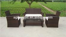 6 + 1 rattan aluminium garden furniture chairs + table set outdoor wicker
