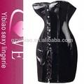 2015 haute qualité robe de soirée corset noir en cuir de mode lingerie façonneur de corps