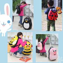best travel system animal kids luggage/backpack 4 wheels hard plastic kids luggage