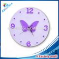 3d borboleta voando 12 polegadas ce e rohs promoção mdf e eva relógio de parede
