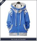 Custom children's zipper-up cotton fleece hoodie