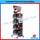 Fashion design metal floor engine oil display rack