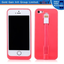 PC hard case for iPhone 5S, for iPhone 5G cover case with charger cable